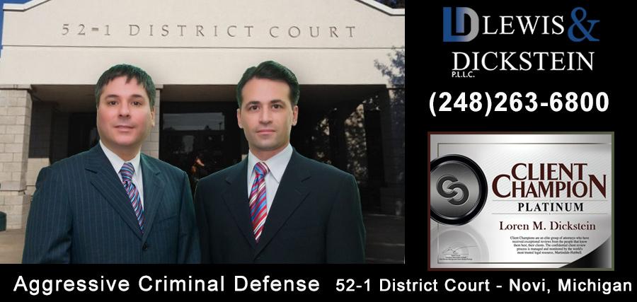 Criminal Defense Attorneys - 52-1 District Court in Novi