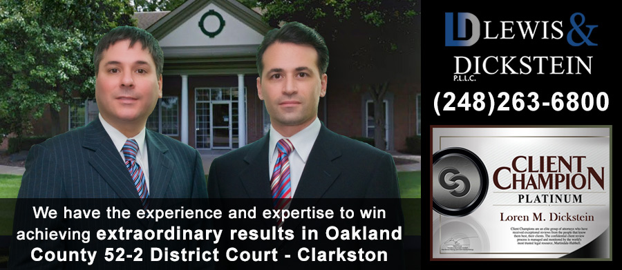 52-2 District Court - Clarkston Criminal Defense Lawyers