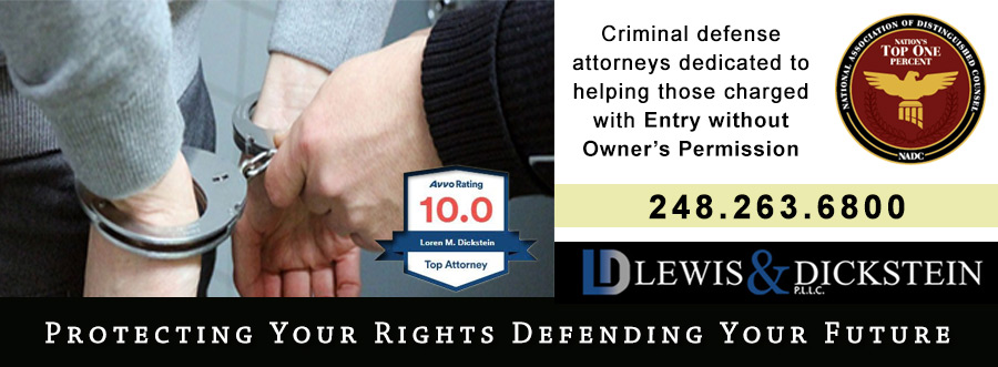 Entry without Owner's Permission Defense Attorney