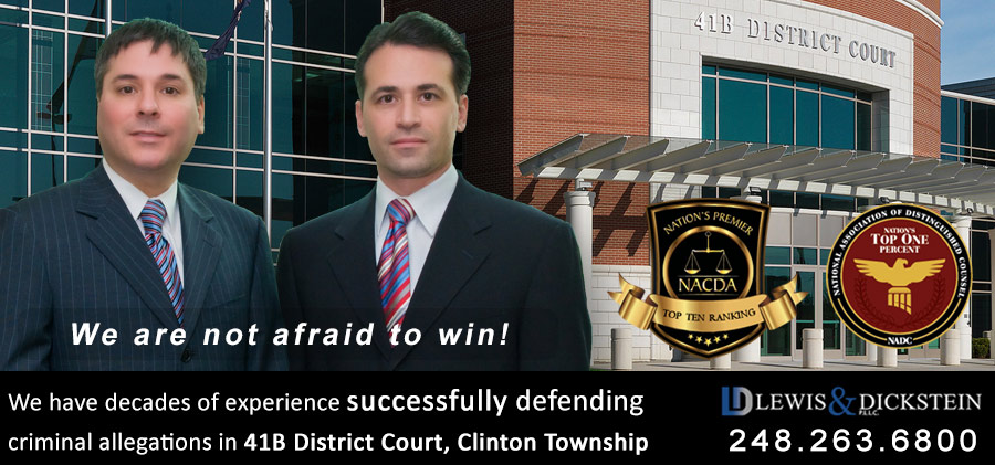 41B District Court Clinton Township Attorney