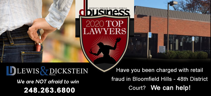 Retail Fraud Attorney Bloomfield Hills